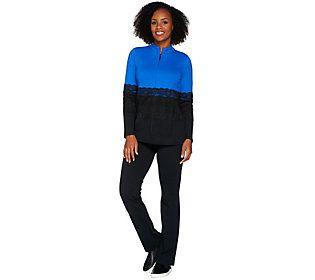9bce5f914d2320 Belle by Kim Gravel Colorblock Lace Jacket and Pants Set