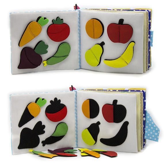Quiet busy book Educational Montessori toddler sensory toy Eco ...