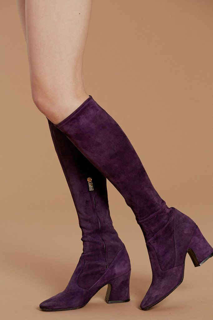 792949d4fcbe Purple Haze 60's Biba Boots | Fashion | Boots, Purple boots, Purple haze