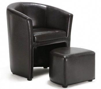 tub chair brown leather sit on it focus living room brownleatherchairs desk and