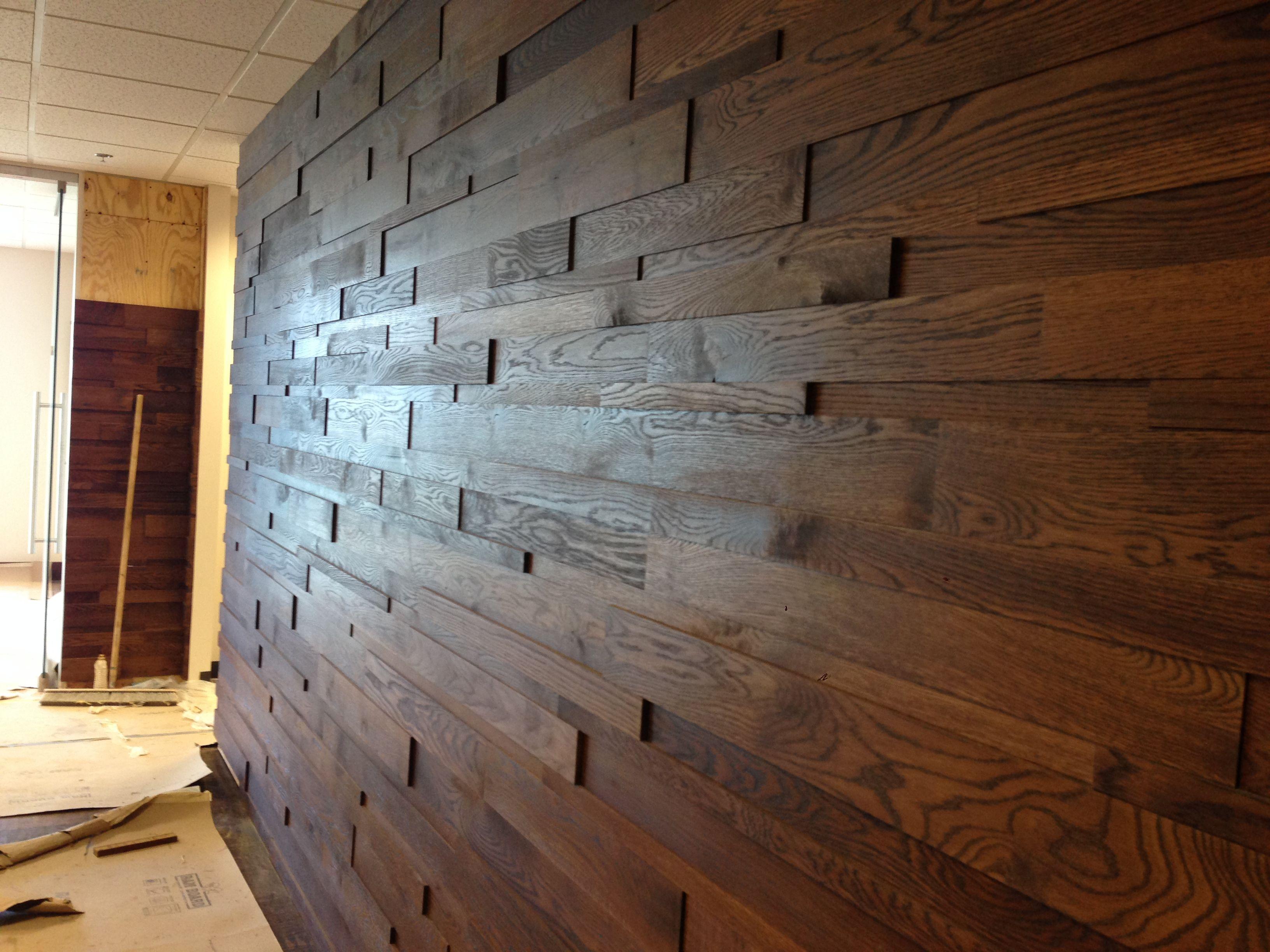3d Oak Planks With Stain 3d Plank Walls Pinterest