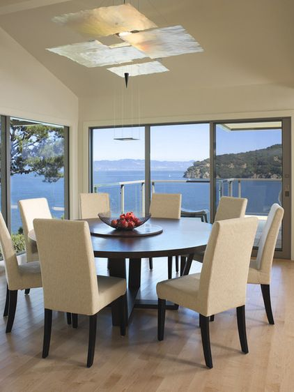 Decision making: Round vs Rectangular Dining Table via Houzz ...