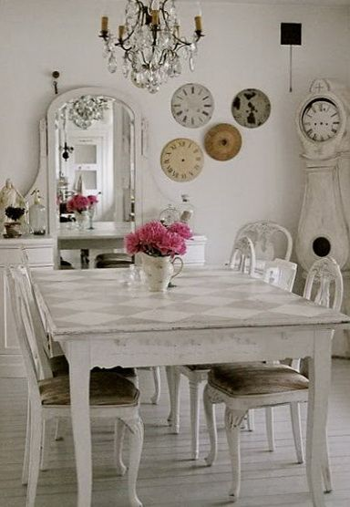 Dining Table By Peggyjwhite1950 Beautiful Shaby Chic Chandeliers