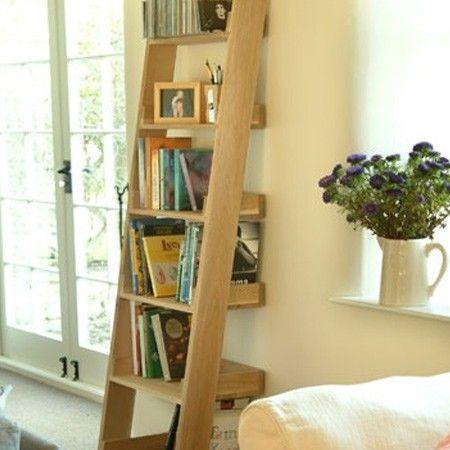 Oak Ladder Shelf For My Home Oak Ladder Shelf Oak Shelves Shelves
