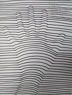 Generacion De Volumen Mediante La Linea Op Art Art Texture Graphic Design