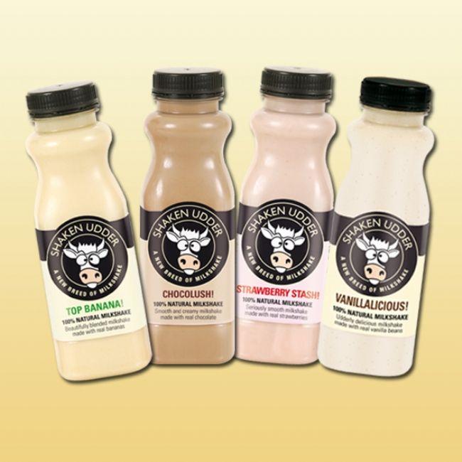 Case of 8 milkshakes - £14 | Shop | Shaken Udder Milkshakes - A new breed of milkshakes!