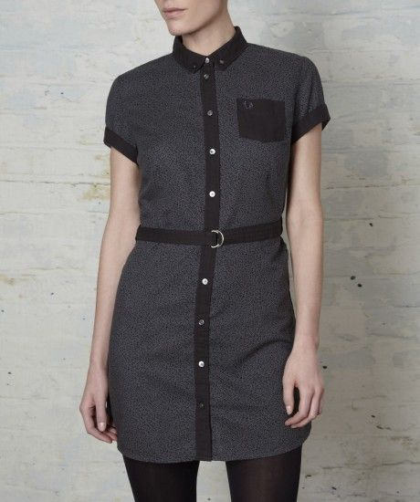 Fred Perry - Leopard Print Belted Shirt Dress
