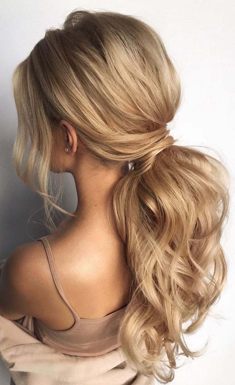 Gorgeous Ponytail Hairstyle Ideas That Will Leave You In Fab Low Ponytail Hairstyles Tail Hairstyle Prom Hairstyles For Long Hair