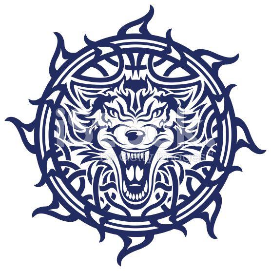 keltische wolf tattoo