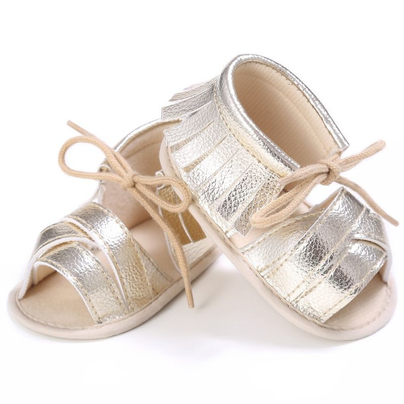 Summer Toddler New Arrived Girls Soft Sole PU Leather Baby First Walkers  Shoes Fashion Princess Fringe a892e256e