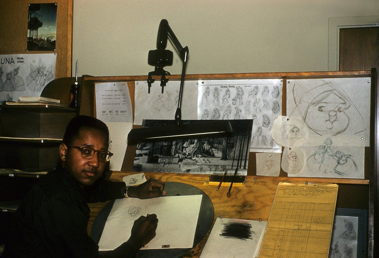 Floyd Norman, the first black artist at Disney, animating