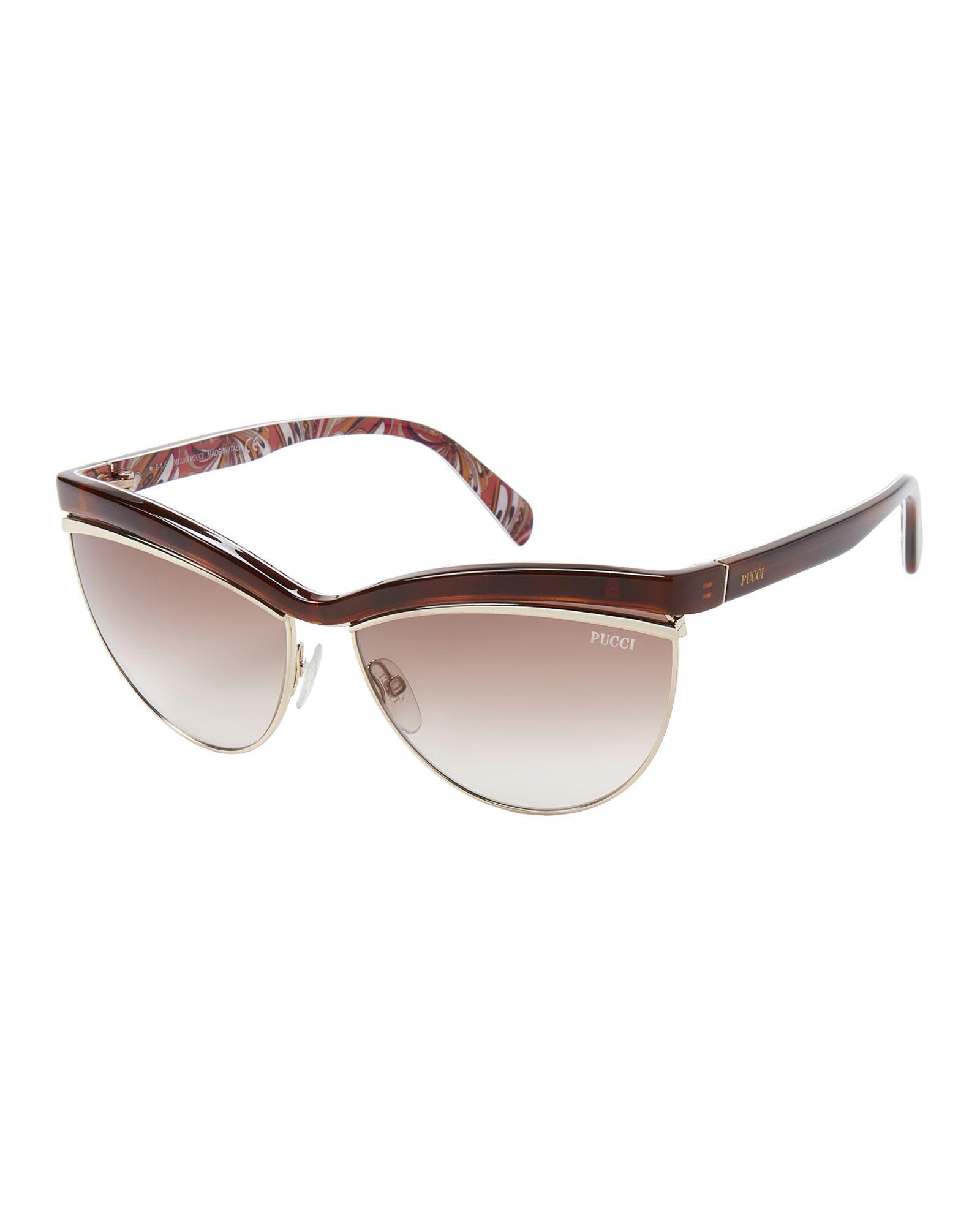 e154990a62 Emilio Pucci EP10 Dark Havana Cat Eye Sunglasses