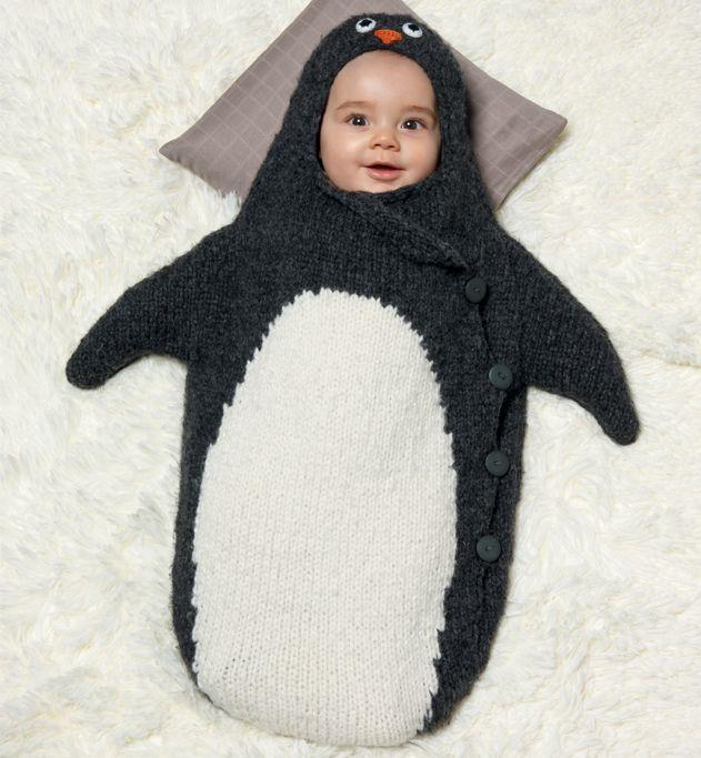 mod le nid d 39 ange pingouin layette sacs currys et seigneur. Black Bedroom Furniture Sets. Home Design Ideas