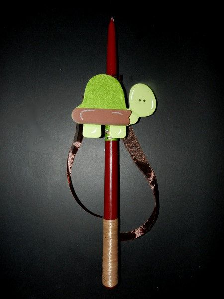 Easter candle little turtle by pinelopiCreations on Etsy, $12.00