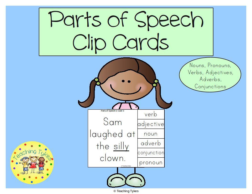 Parts Of Speech Task Cards Nouns Pronouns Verbs Adjectives