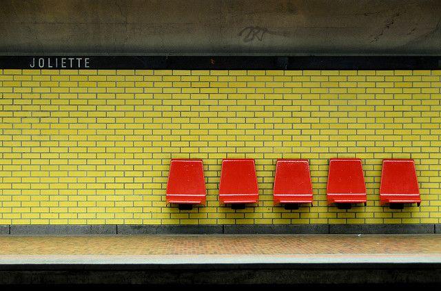 JOLIETTE METRO STATION   HOCHELAGA STREET   MONTREAL   QUEBEC   CANADA: *Montreal Metro: Green Line*