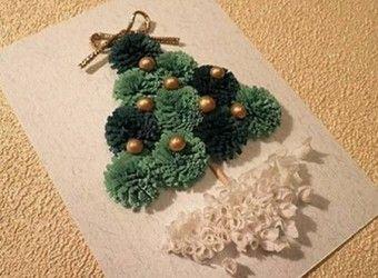 Como Hacer Tarjetas De Navidad Con Cintas Http - Tarjetas-navideas-manualidades
