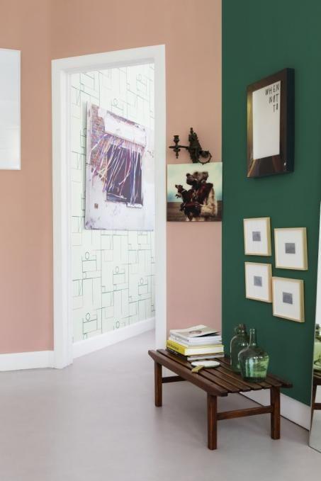 Schilder Je Muren Roze En Groen Woonkamerkleur Geschilderde Muren Thuisdecoratie