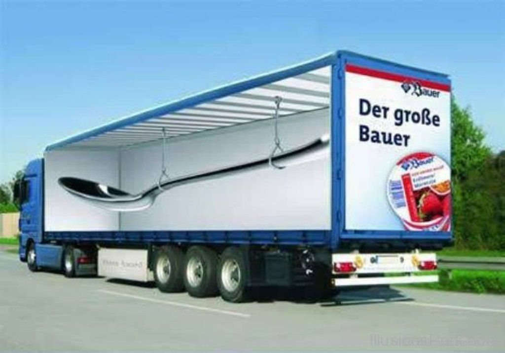 Spoon In Truck | Optische illusie | Pinterest