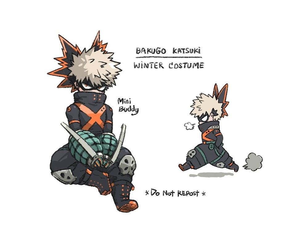Bakugou winter costume // credits to mini // twitter | Aniki | My