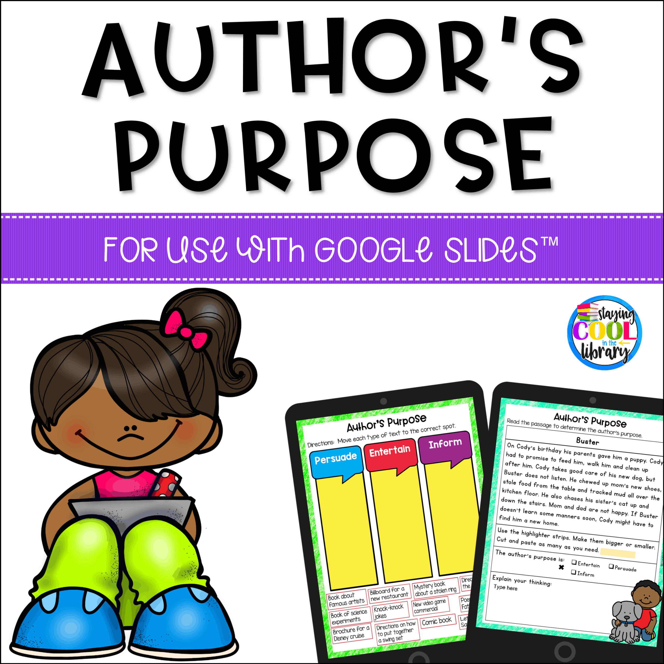 Authors Purpose Activities For Slides In