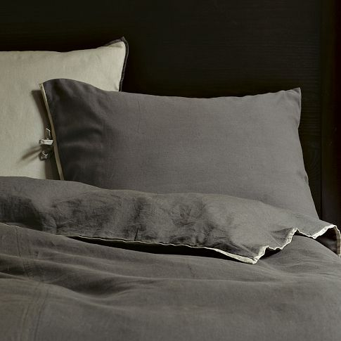 Look How Inviting This Washed Linen Cotton Duvet Looks Color Is