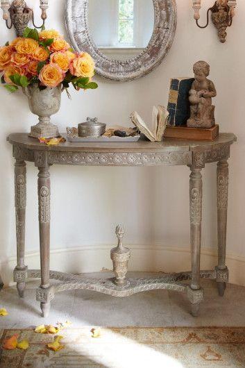Antoinette Demilune   Antique Demilune Table, Demilune Entry Table,  Demilunes | Soft Surroundings