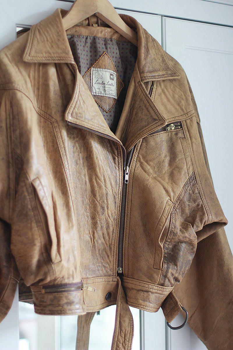 1980 S Leather Biker Jacket In Beige Color 80 S Motorcycle Jacket Xl Size In 2021 Leather Jacket Stylish Leather Jacket Leather Jackets Women