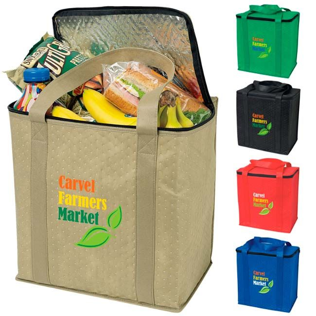 Bag Zippered Insulated Grocery