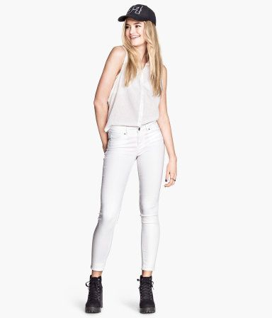 All white - H&M jeans $25