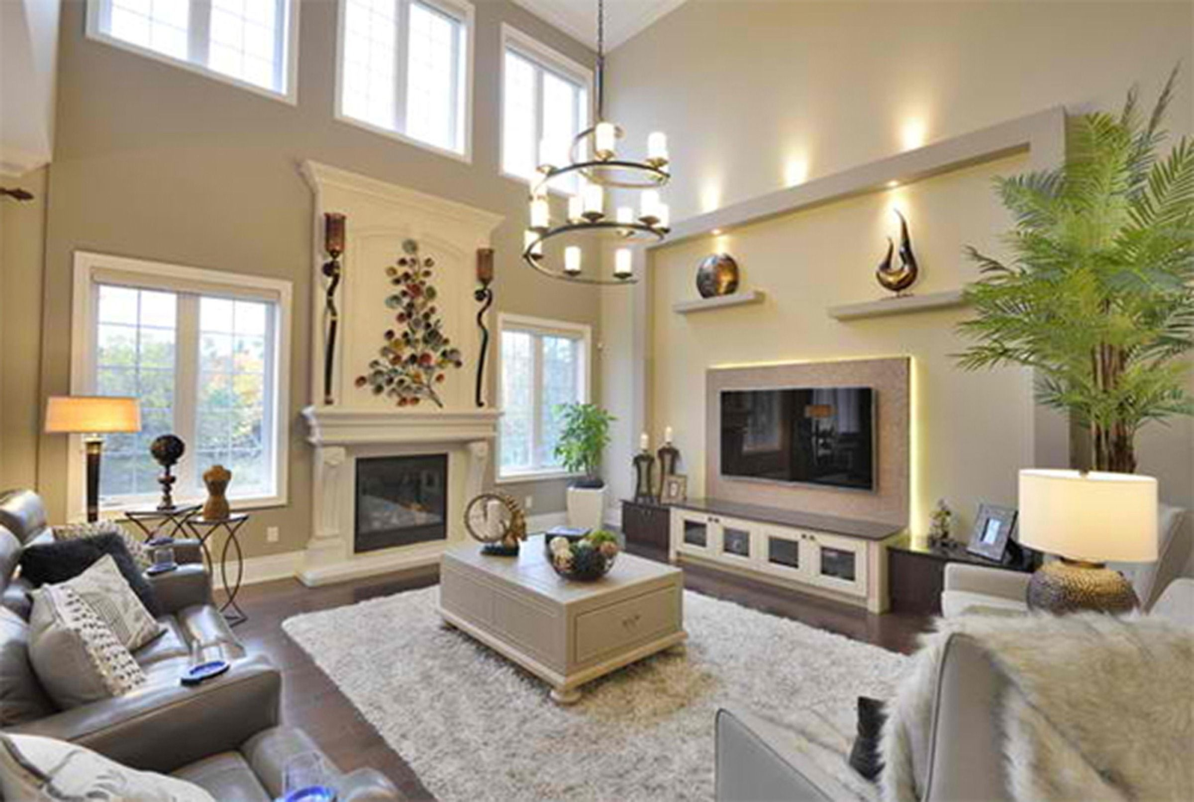 14+ High ceiling family room decorating ideas information