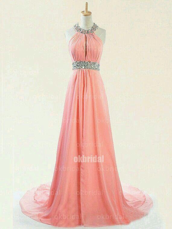 Vestido De Gala Rosa Coral En 2019 Vestidos De Baile