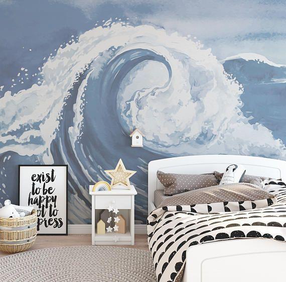 Best Ocean Wave Wallpaper Mural Ocean Bedroom Waves 400 x 300