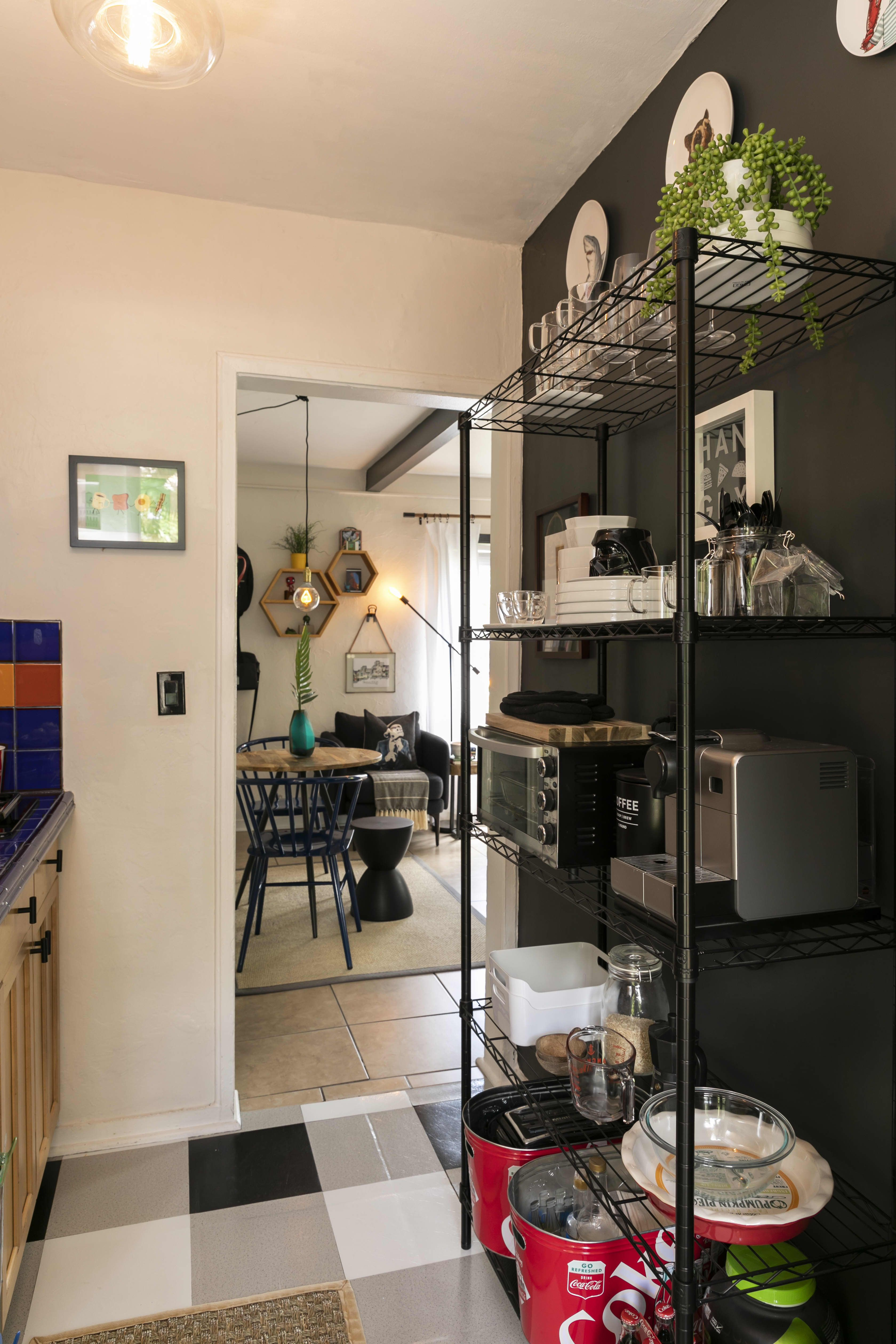 An Organized 305 Square Foot Studio Apartment Features Superb Space Maximizing Ideas Furniture Home Space Small Space Design Tiny Studio Apartments S