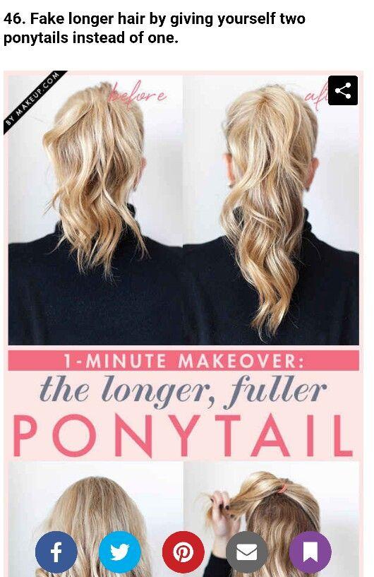 Fake longer hair
