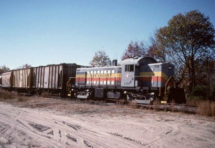 Millis, MA. November 1, 1990. Bay Colony Railroad. Cement