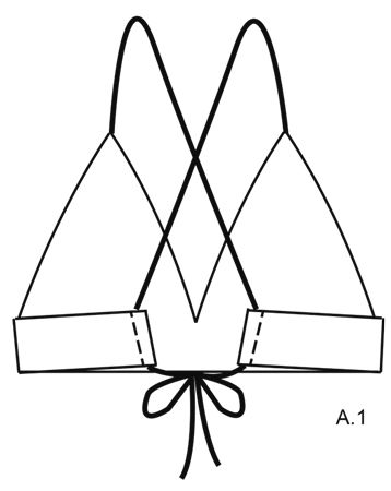 """Tahiti - Bikini a ganchillo DROPS con patrón de calados y cordones en """"Safran"""". Talla S-XXXL. - Free pattern by DROPS Design"""