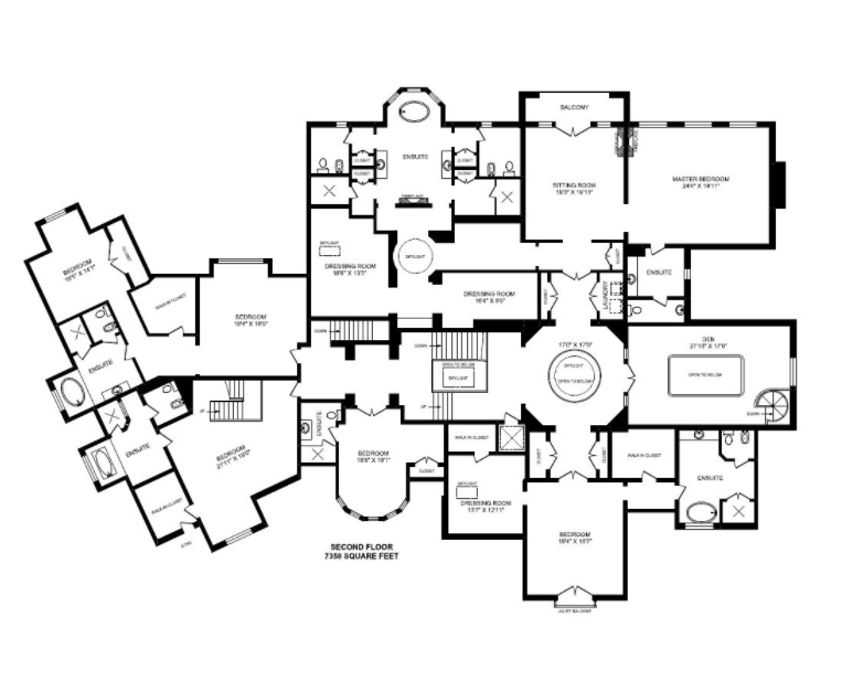 Second Level Plan 22 000 Square Foot Brick Stone Mansion In Ontario Canada Homes Of The Rich Stone Mansion Brick And Stone Mansion Floor Plan