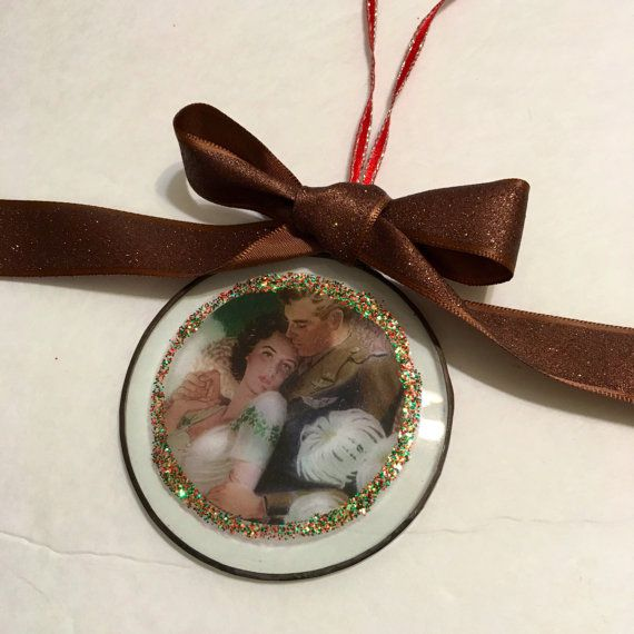 Vintage Style, Fifties 50s, Soldier and Sweetheart Ornament - Christmas ornament