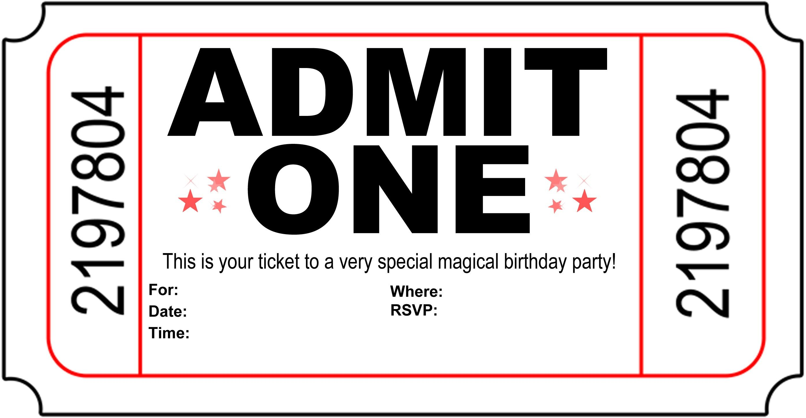 Birthday Party Invitation Free Printable | free to print | Pinterest ...