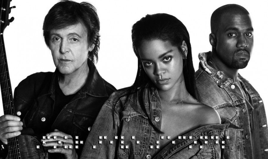 Rihanna Releases New Track Kanye West Paul Mccartney Paul Mccartney Rihanna