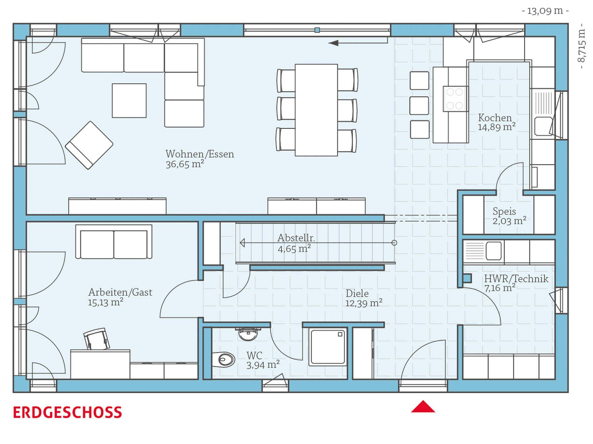 Hausbeispiele grundrisse  Hanse Haus Variant 25-192 Grundriss EG | Hausbau | Pinterest ...