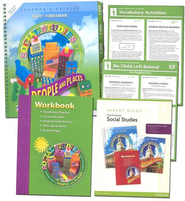 Scott Foresman Social Studies Homeschool Bundle Grade 2 Main Photo Cover Study Skills Worksheets Reading Skills Practice Homeschool Social Studies