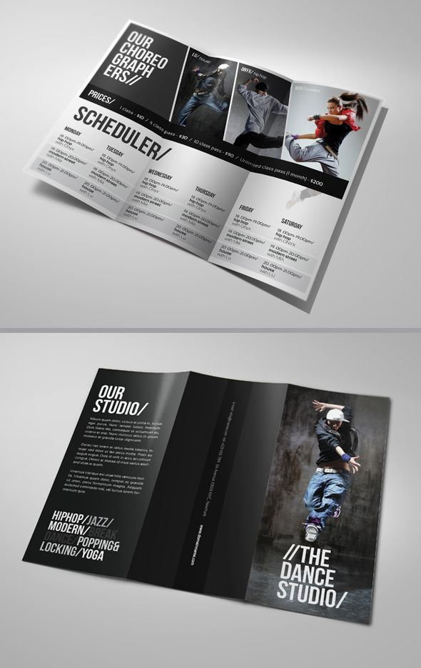 Dance Studio Brochure by ~24beyond on deviantART portfolio ideas - studio brochure