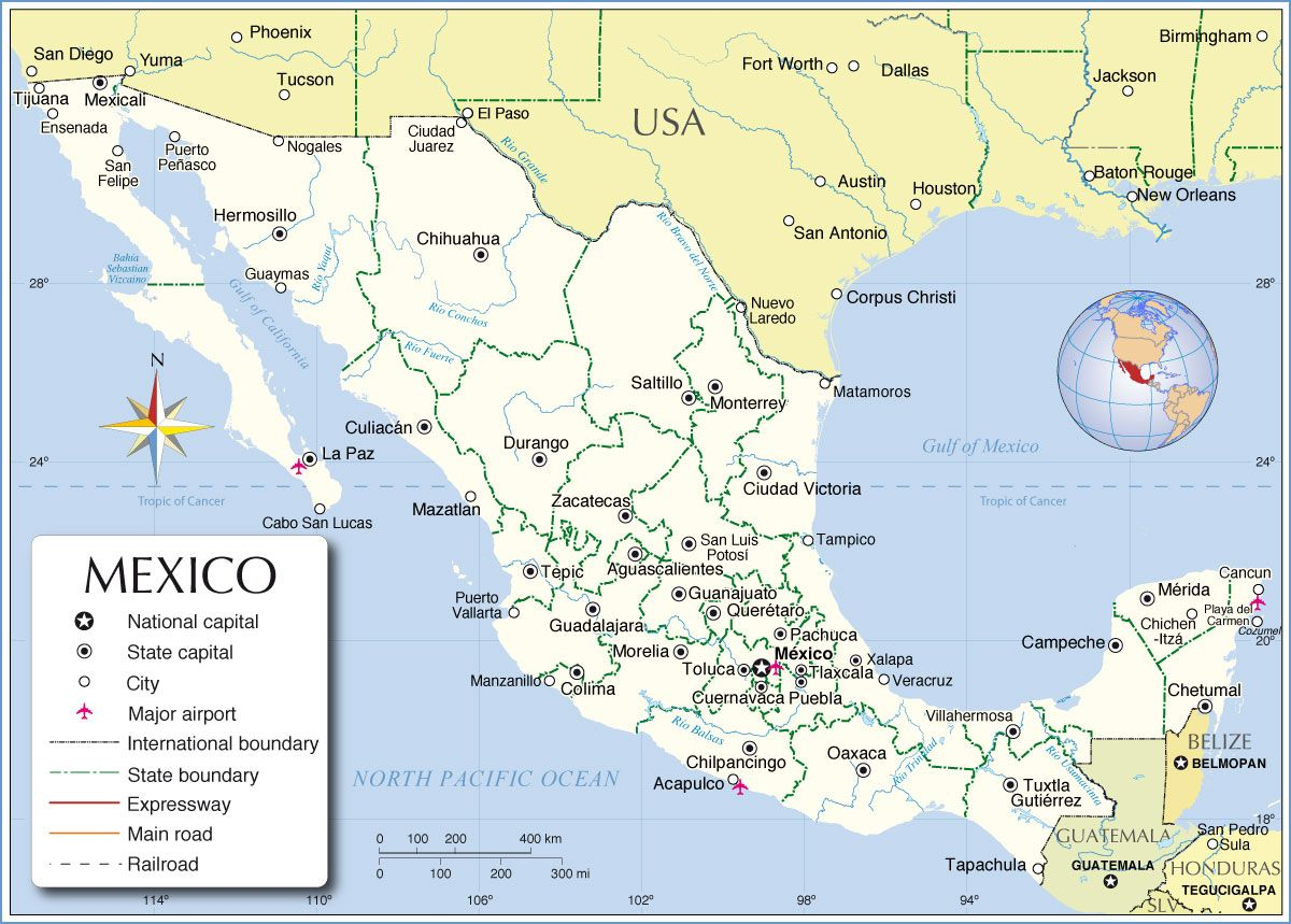 Map Of Mexico Art Lessons Rdth Grade Pinterest Secret - Major cities map of mexico