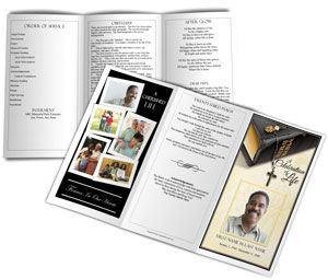 This Trifold Funeral Program Examples Features A Religious Theme