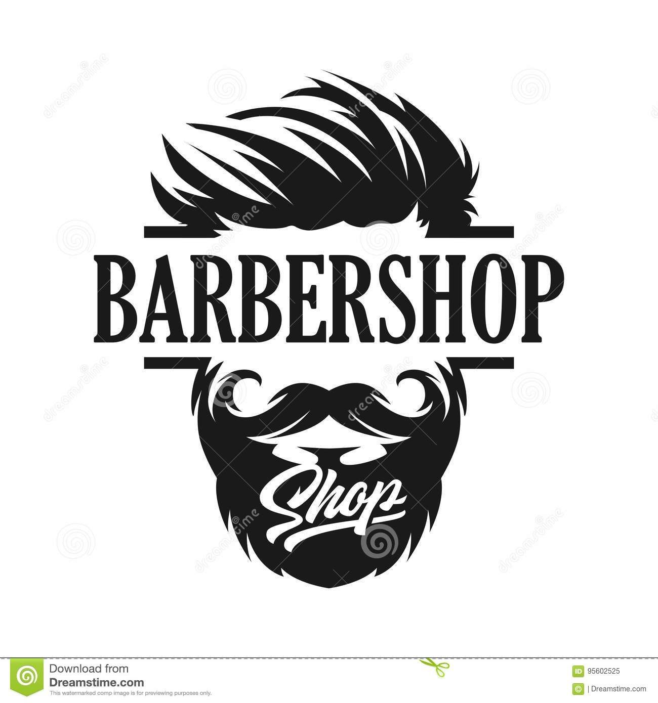 Logo Template Barber Shop Stock Vector Illustration Of Bearded