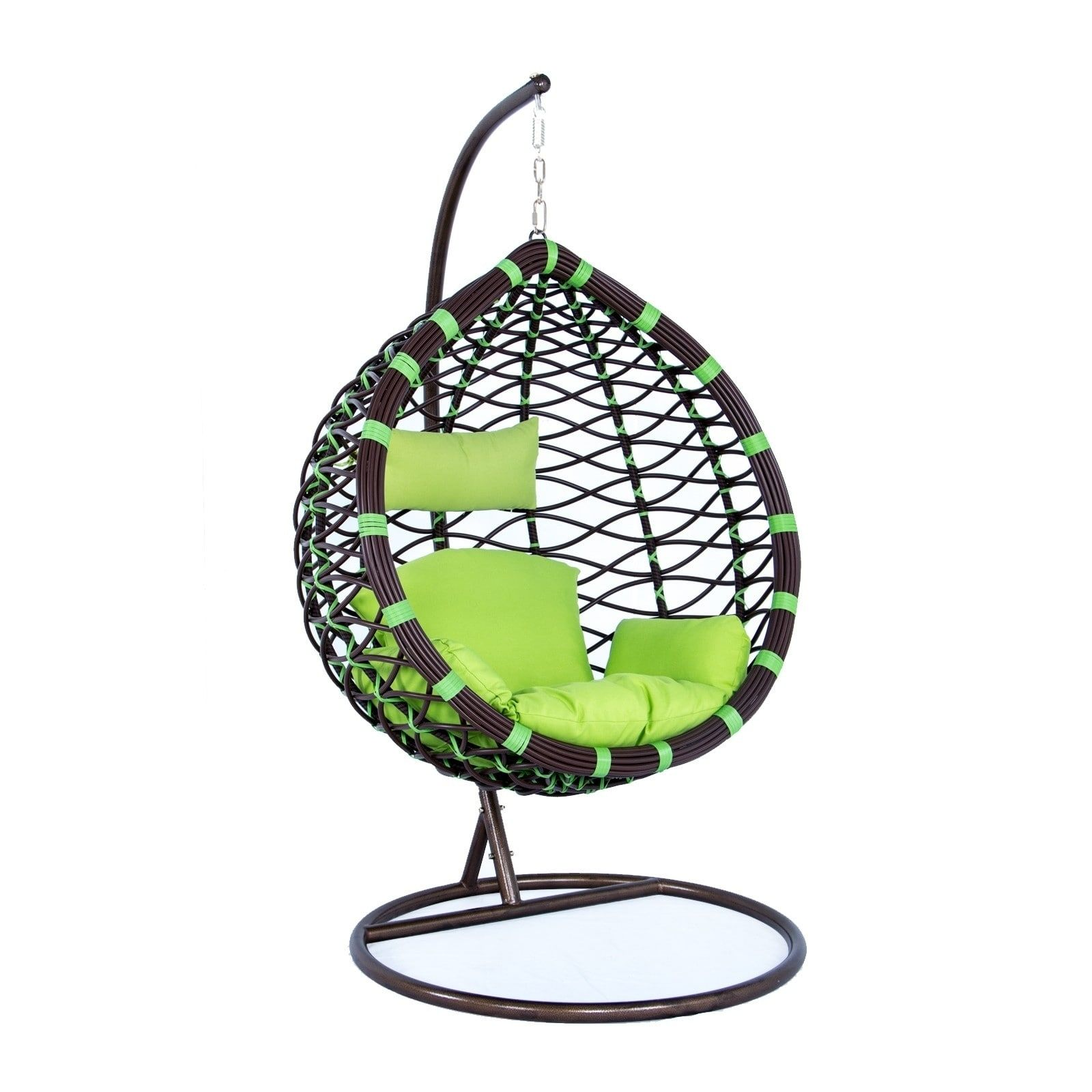 LeisureMod Indoor Outdoor Wicker Hanging Egg Swing Chair