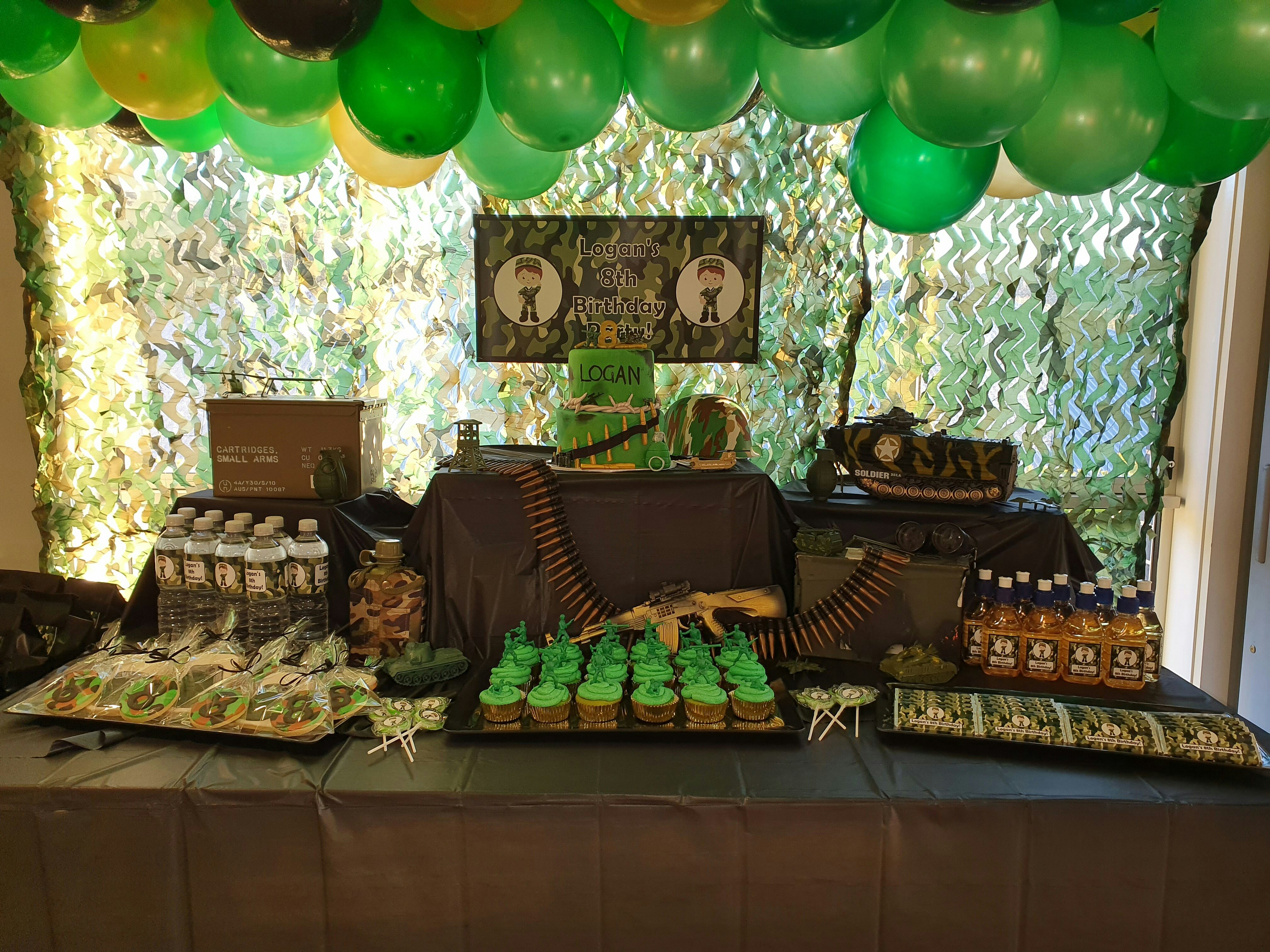 Army Camouflage Birthday Party Decorations in 2020 ...