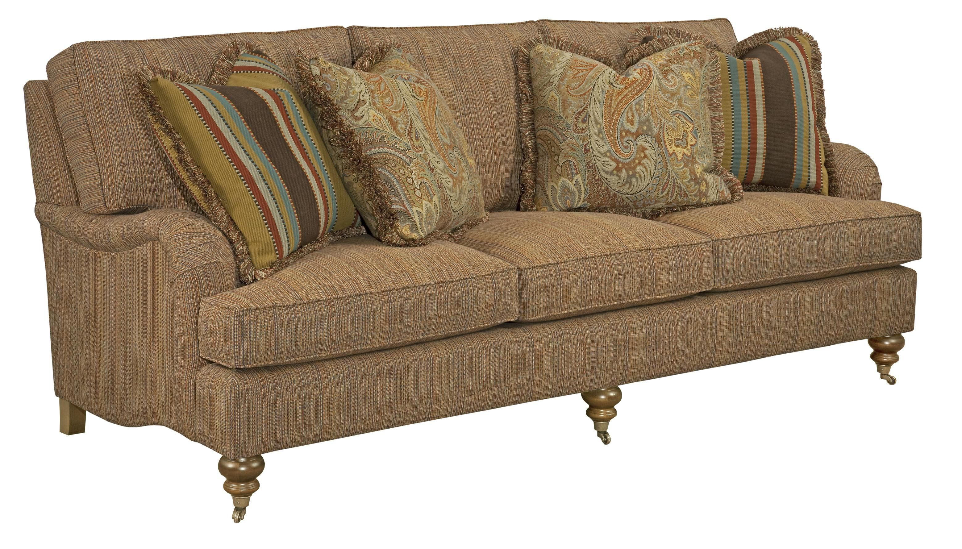 Greenwich Traditional Sofa With English Arms And Turned Legs By Kincaid Furniture Becker World